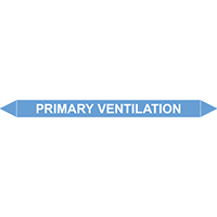 PRIMARY VENTILATION European Pipe Marker