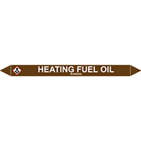 HEATING FUEL OIL European Pipe Marker
