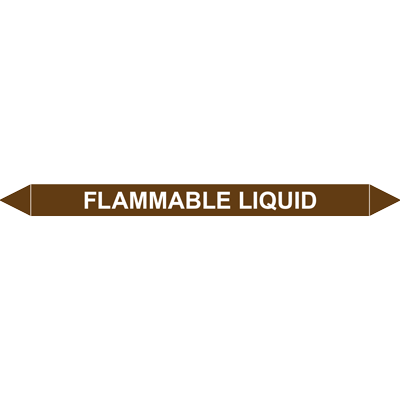 FLAMABLE LIQUID European Pipe Marker