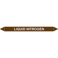 LIQUID NITROGEN European Pipe Marker