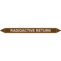 RADIOACTIVE RETURN European Pipe Marker