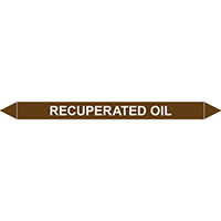 RECUPERATED OIL European Pipe Marker
