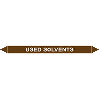 USED SOLVENTS European Pipe Marker