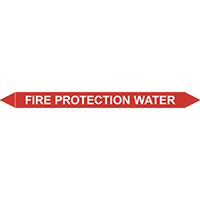 FIRE PROTECTION WATER European Pipe Marker