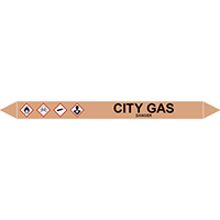 CITY GAS European Pipe Marker