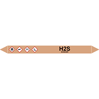 H2S European Pipe Marker