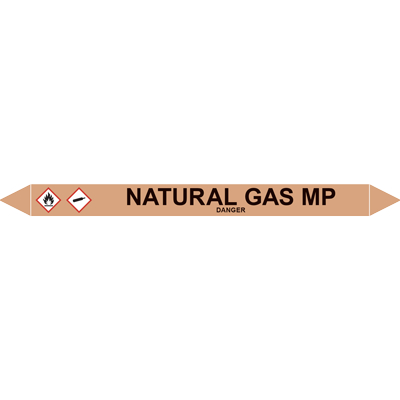 NATURAL GAS MP European Pipe Marker