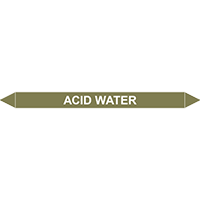 ACID WATER European Pipe Marker