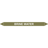 BRINE WATER European Pipe Marker