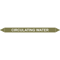 CIRCULATING WATER European Pipe Marker