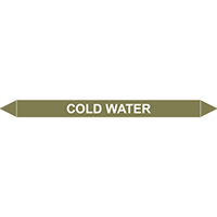 COLD WATER European Pipe Marker