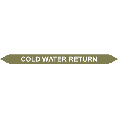 COLD WATER RETURN European Pipe Marker