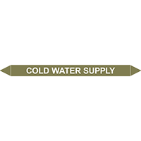 COLD WATER SUPPLY European Pipe Marker
