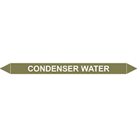 CONDENSER WATER European Pipe Marker