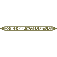 CONDENSER WATER RETURN European Pipe Marker