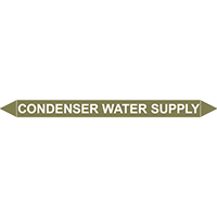 CONDENSER WATER SUPPLY European Pipe Marker
