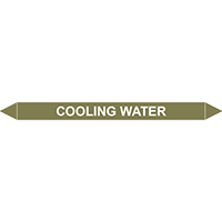 COOLING WATER European Pipe Marker