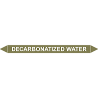 DECARBONATIZED WATER European Pipe Marker