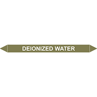 DEIONIZED WATER European Pipe Marker