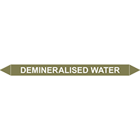 DEMINERALISED WATER European Pipe Marker