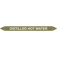 DISTILLED HOT WATER European Pipe Marker