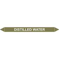 DISTILLED WATER European Pipe Marker