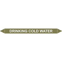 DRINKING COLD WATER European Pipe Marker