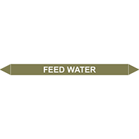 FEED WATER European Pipe Marker