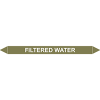 FILTERED WATER European Pipe Marker
