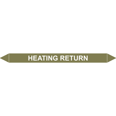 HEATING RETURN European Pipe Marker