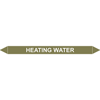 HEATING WATER European Pipe Marker
