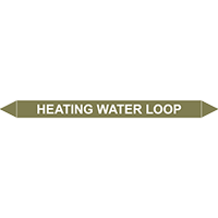 HEATING WATER LOOP European Pipe Marker