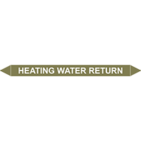 HEATING WATER RETURN European Pipe Marker