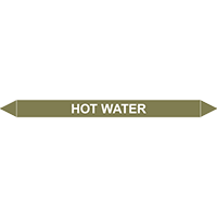 HOT WATER European Pipe Marker
