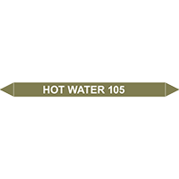 HOT WATER 105?C European Pipe Marker