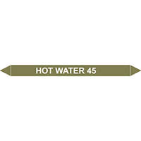 HOT WATER 45?C European Pipe Marker