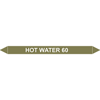 HOT WATER 60?C European Pipe Marker