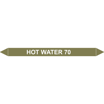 HOT WATER 70?C European Pipe Marker