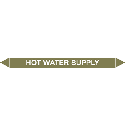 HOT WATER SUPPLY European Pipe Marker
