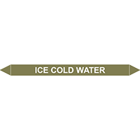 ICE COLD WATER European Pipe Marker