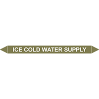 ICE COLD WATER SUPPLY European Pipe Marker