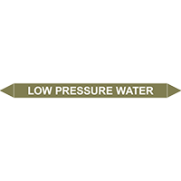 LOW PRESSURE WATER European Pipe Marker