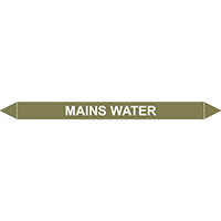 MAINS WATER European Pipe Marker