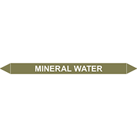 MINERAL WATER European Pipe Marker