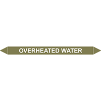 OVERHEATED WATER European Pipe Marker