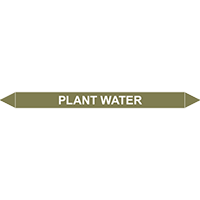 PLANT WATER European Pipe Marker