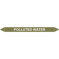 POLLUTED WATER European Pipe Marker