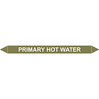 PRIMARY HOT WATER European Pipe Marker