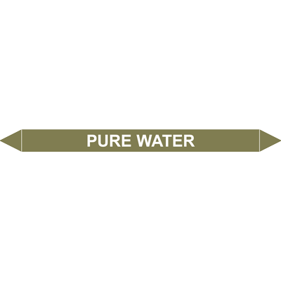 PURE WATER European Pipe Marker