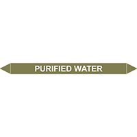 PURIFIED WATER European Pipe Marker